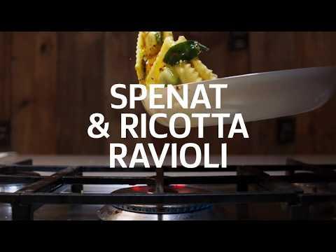 Ravioli med spenat, ricotta och citronsmör | Svenskt Smör