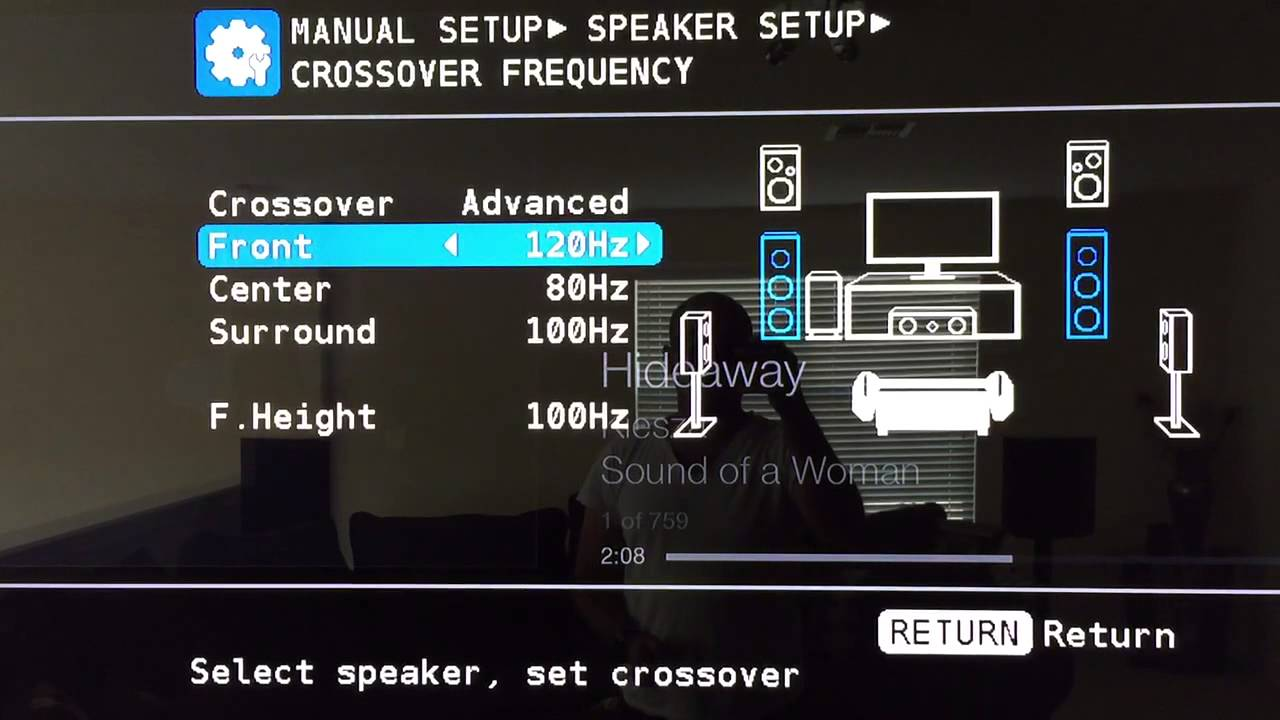 Marantz Receiver speaker setup