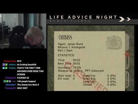 GOLDENEYE N64 - DAM AGENT 0:52 - UNTIED WORLD RECORD