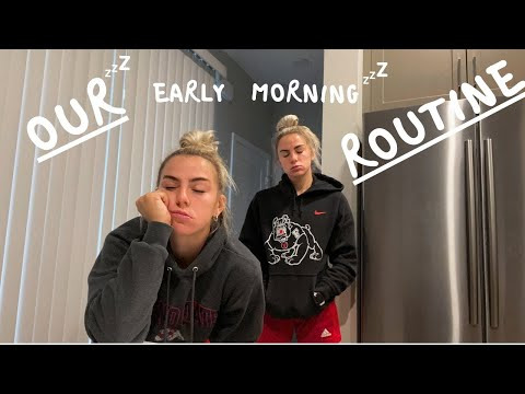 OUR COLLEGE MORNING ROUTINE I CAVINDER TWINS