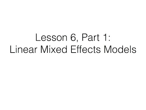 Lesson 6, Part 1: Linear Mixed Effects Models (LMEM) | Page Piccinini