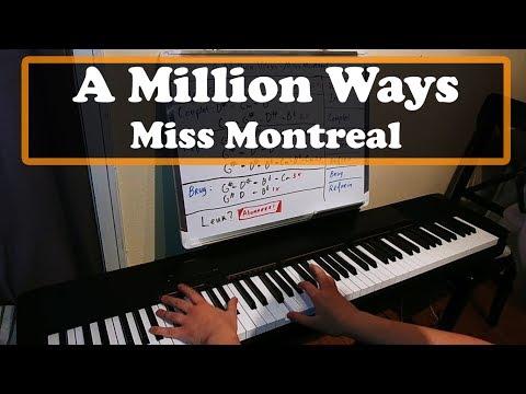 A Million Ways - Miss Montreal Piano Cover & Tutorial (Karaoke)