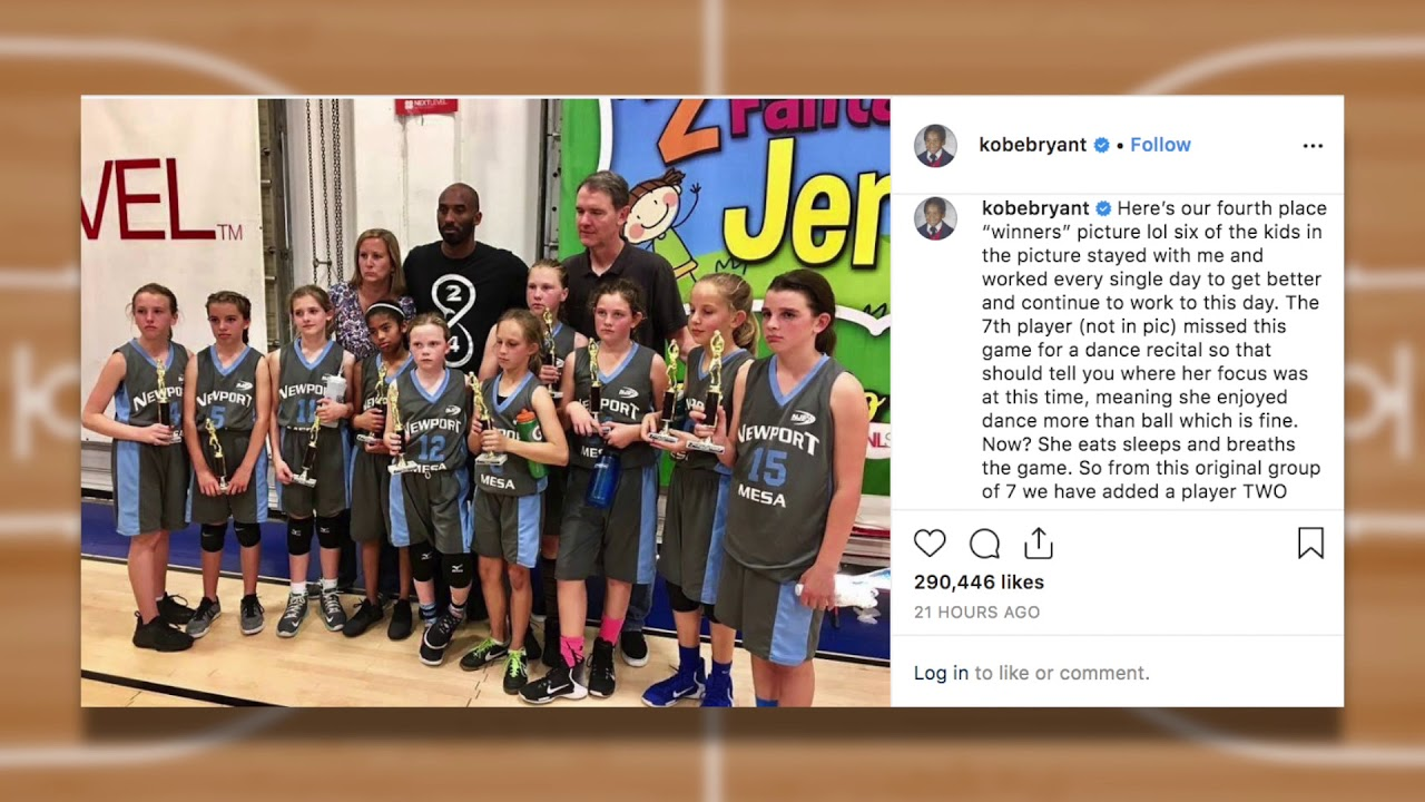 Kobe Bryant Teaches AAU Team Mamba Mentality