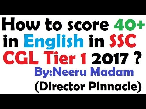 SSC CGL 2017 Tier1 : How to score 40+ in English
