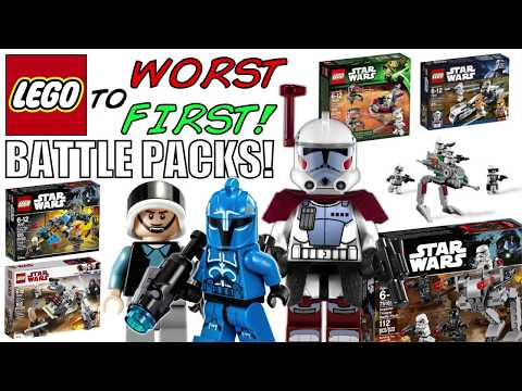 LEGO Worst To First | ALL LEGO Star Wars BATTLE PACKS!