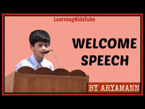 WELCOME SPEECH School Anchoring BY ARYAMANN