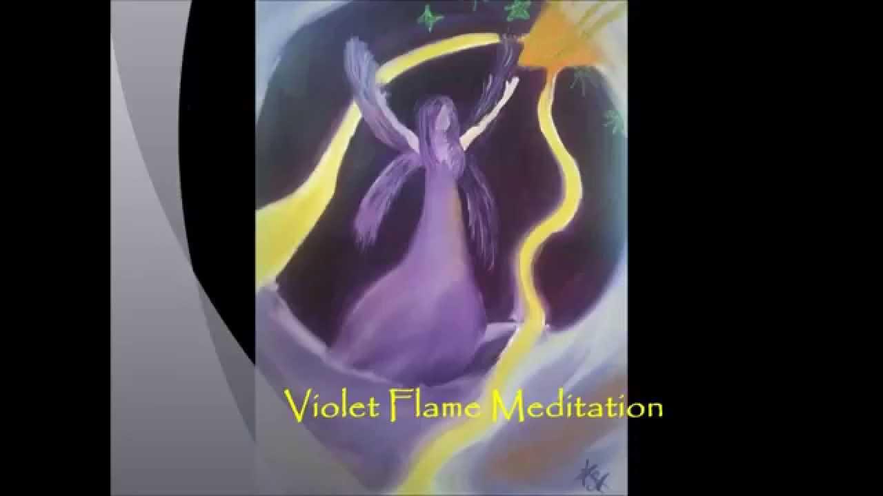 Violet Flame Meditation Saint Germain - YouTube