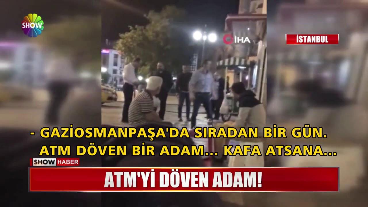 ATM'yi döven adam!