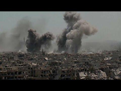 Palästinensisches Flüchtlingsviertel bei Damaskus weiterhin unter Beschuss
