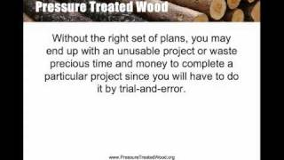Pressure Treated Wood Blueprints, Schematics And Constructions