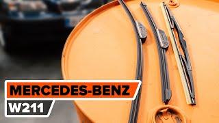 Kuinka vaihtaa pyyhkijänsulat MERCEDES-BENZ W211 E-Sarja -merkkiseen autoon [AUTODOC -OHJEVIDEO]