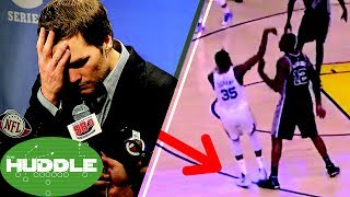 Tom Brady Caught CHEATING Again? Did LaMarcus Aldridge Try to Injure Kevin Durant? -The Huddle
