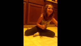 My niece Alexis doing the cup song.