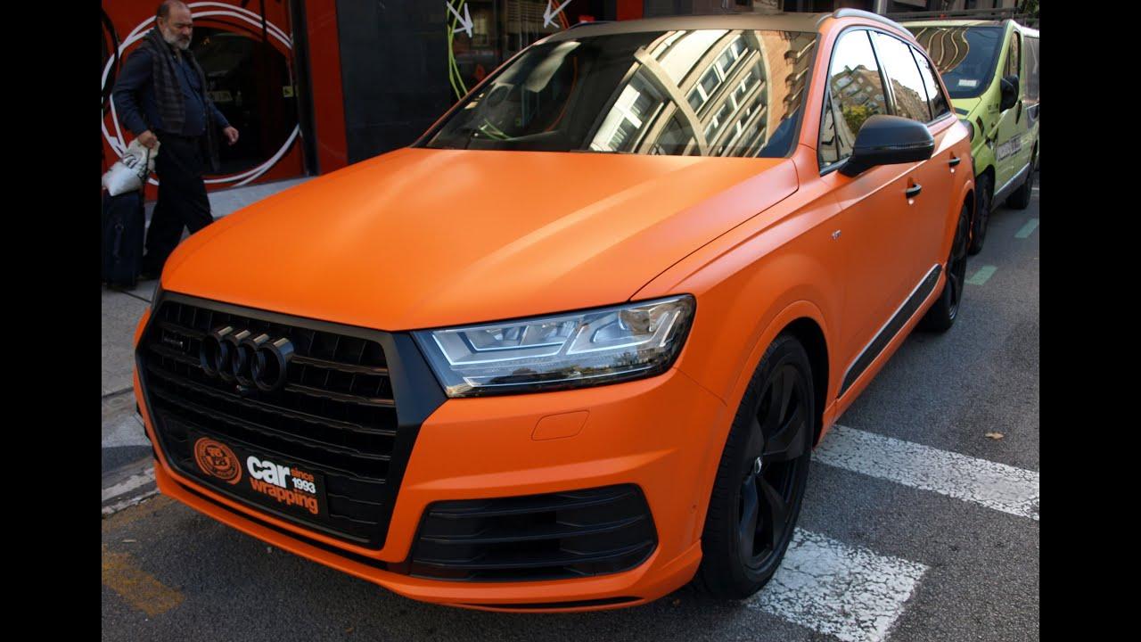 Dani Alves Y 225 Tiene Su Nueva Audi Q7 En Naranja Mate Con