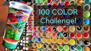 100 COLOR CHALLENGE Fluid ART Featured in Ripley's Believe It Or Not