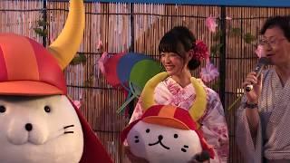 2017.7/22 夢京橋キャッスルロードで開催された彦根ゆかた祭に大河ドラ...