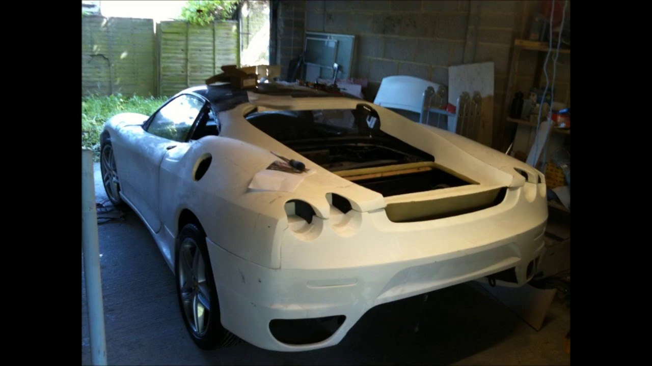 ferrari f430 replica kit car build - YouTube