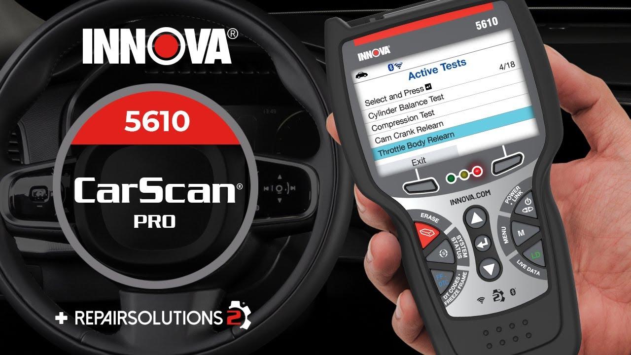 Innova 5610 - CarScan Pro - YouTube