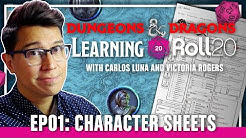 Learning Roll20: EP01 Character Sheets
