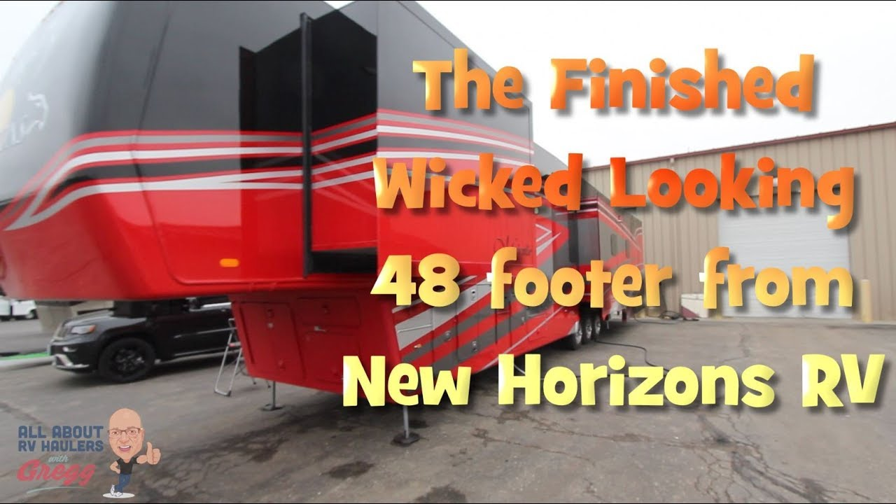 New Horizons Rv >> Finished Wicked Looking Custom 5th Wheel From New Horizons Rv
