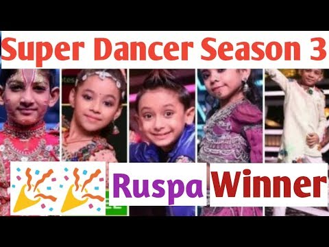 Super Dancer Season 3 winner | Super Dancer winner Rupsa | Sony Tv