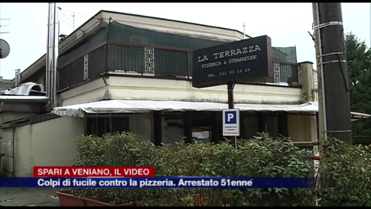 Etg - Spari alla vetrata della pizzeria di Veniano - YouTube