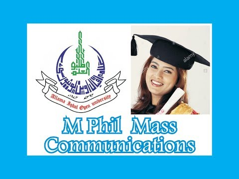 Masters Of Philosophy In Mass Communications, AIOU M Phil Mass Communications, AIOU