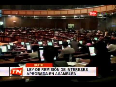 Ley de remisión de intereses aprobada en asamblea