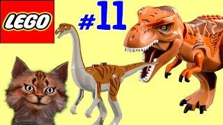 🐈 ЛЕГО мультик игра про динозавров Парк юрского периода [11] Тирранозавр Галлимим Велоцираптор