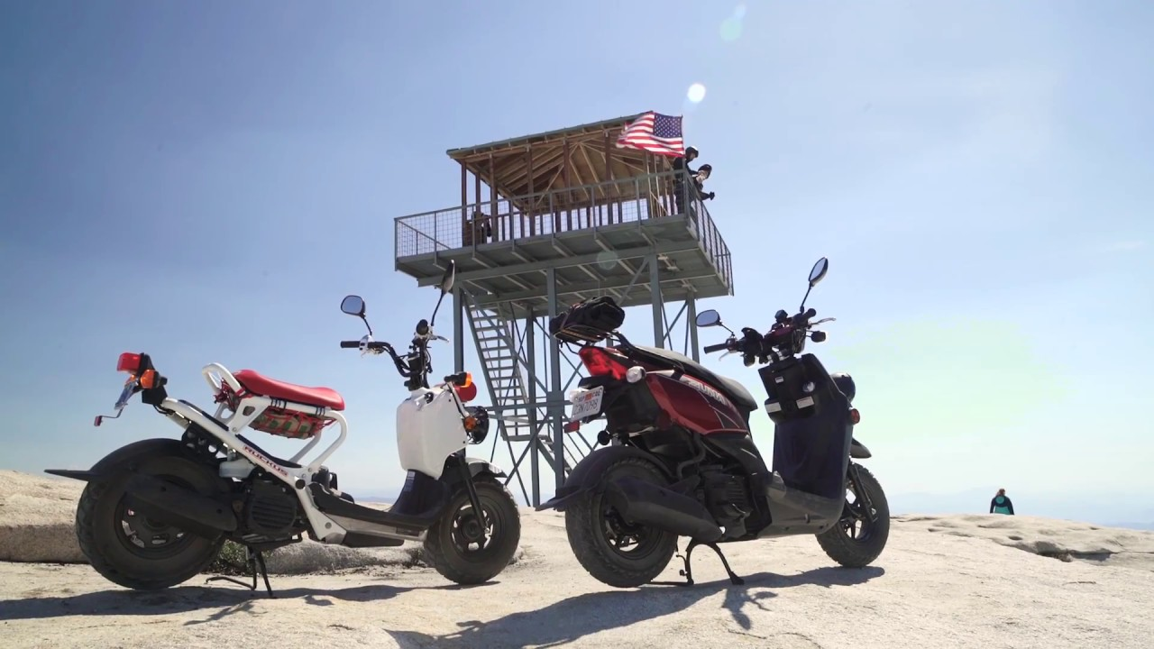 2017 Honda Ruckus vs  2017 Yamaha Zuma 50 - Adventure Scooters in the  Sierra! | ON TWO WHEELS