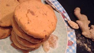Triple Ginger Shortbread Cookies