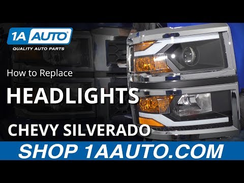 How to Replace Headlights 14-15 Chevy Silverado 1500