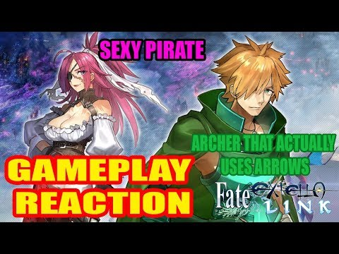Reacting to Francis Drake and Robin Hood Gameplay for Fate/Extella Link