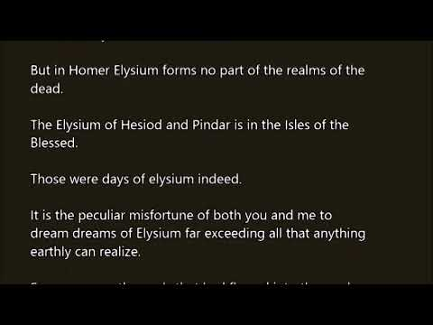 Elysium word in sentence with pronunciation