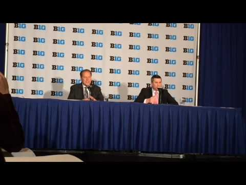 Tom Izzo addresses reporters at 2016 Big Ten Media Day