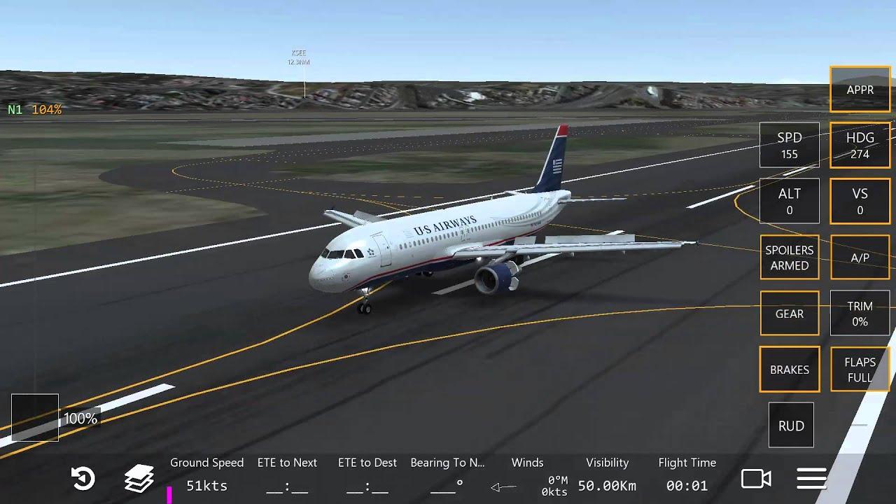 The new Infinite Flight update US Airways a320 - YouTube