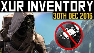 destiny   xur location inventory 30th december 2016 no 3oc again week 121