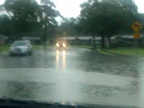 Man loses car in Flash Flood. Myrtle Beach, SC on 8/32/2012