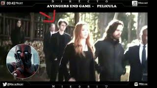 Quien es El personaje que acompaña en el funeral de Tony Stark ?