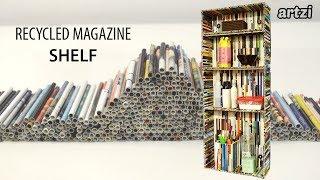 DIY Magazine Craft Small Shelf
