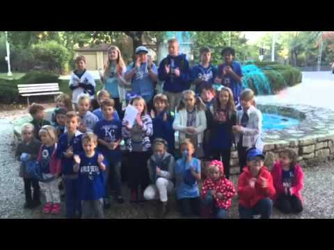 Westwood View Elementary School students cheer on the Royals to #TakeTheCrown