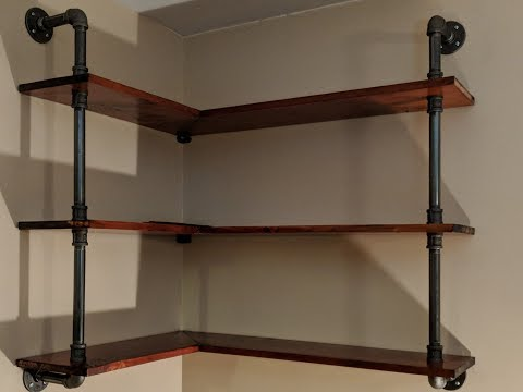 Making Black Iron Pipe Shelves