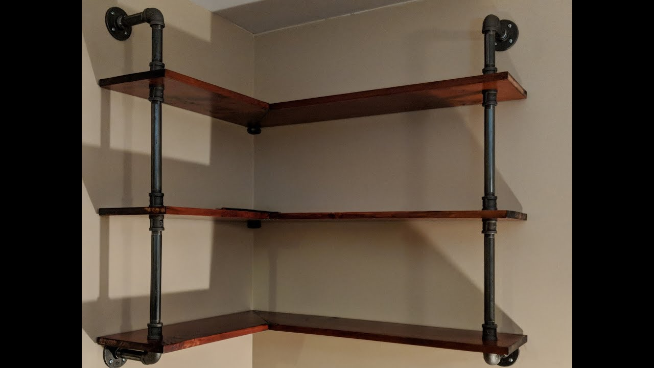 Making Black Iron Pipe Shelves Youtube
