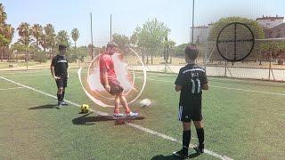 crossbar y penalti a ciegas challenge   futbol con mis primos elchurches