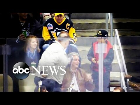 Give the Kid Back the Puck. Hockey Fans Call Foul