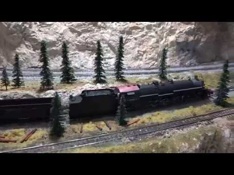 Northern Pacific 4-8-4 A3 Followed By 2-8-8-2 Z2