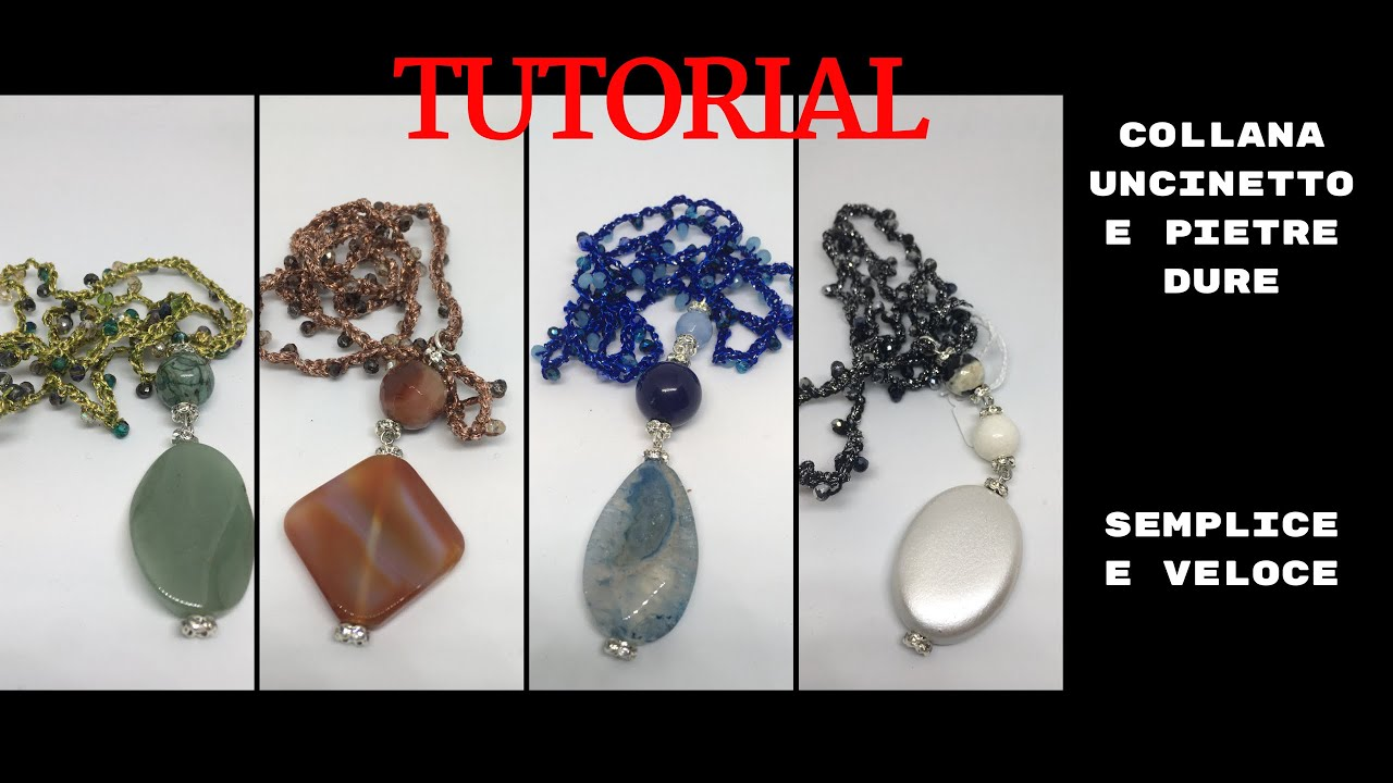 Tutorial Collana Uncinetto Catenella