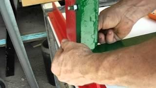 Лопатки або згинання листового металу домашній, гільйотинні ручний (4/5) Монтаж.
