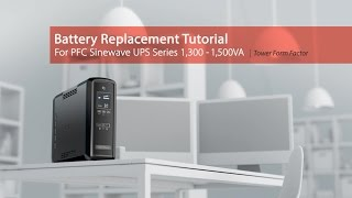 cyberPower Battery Replacement Tutorial for PFC Sinewave Series 850-1,000VA (Tower)