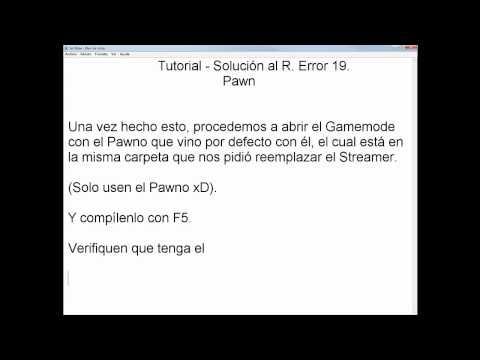 Solución al Runtime Error 19 - Samp-Script